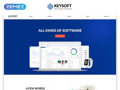 Keysoft - Software Company Multipage HTML Website Template