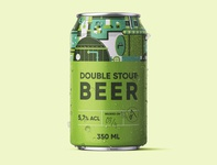 Beer Can Design Green