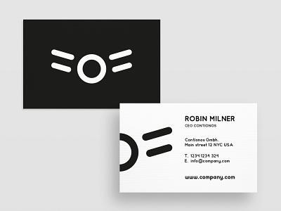 Business Card Contionos minimal graphic  design typography modern designer design creativity creative visiting card business card business card design businesscard