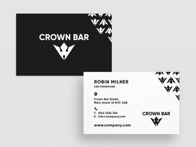 Business Card Crown Bar