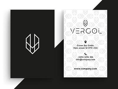 Business Card Vergol graphic  design minimal typography modern designer design creativity creative visit card businesscard business cards business card business card design