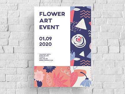 Poster Design Flower Art Event graphic  design minimal typography modern designer design creativity creative art flower poster design poster