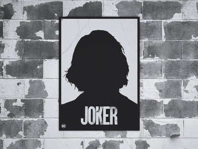 Poster Design Joker graphic  design minimal modern typography designer poster design poster design creativity creative dc joker movie joker