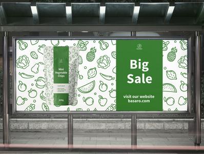 Banner Design Vegetable Chips