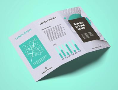 Brochure Design Turquoise