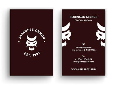 Business Card Japan Demon minimal typography modern designer design creativity creative visit card visiting card design business cards business card design business card businesscard