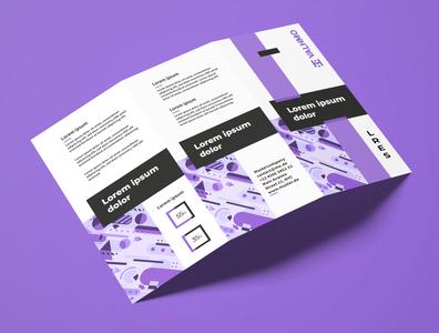 Brochure Design Purple
