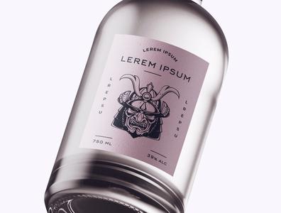 Bottle Design Samurai