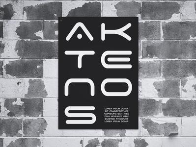Poster Design Aktenos graphic artist graphic  design minimal typography modern designer design creativity creative black poster design poster