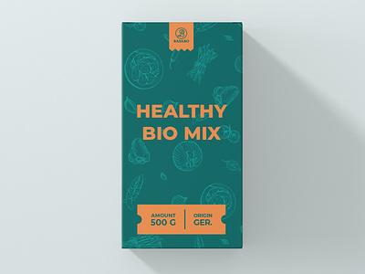 Package Design Healthy Bio Mix minimal typography modern designer design creativity creative label design label package packaging design package design packaging
