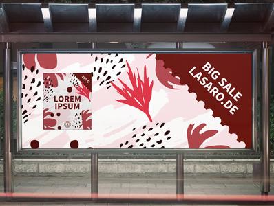 Banner Design Red Flower graphic  design minimal typography modern designer design creativity creative red flower banner design banner