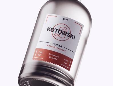 Bottle Design Kotowski graphic  design minimal typography modern designer design creativity creative labeldesign label design label bottle label bottle