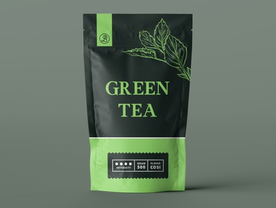 Package Design Green Tea minimal typography modern designer design creativity creative label design label packaging design package design packaging package