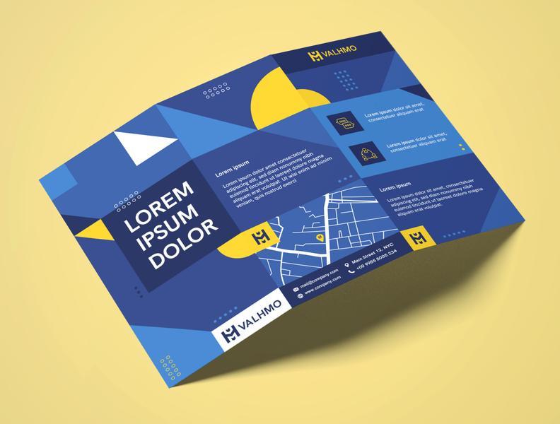 Brochure Design Blue graphic  design minimal typography modern designer design creativity creative trifold brochure flyer flyer design brochure brochure design