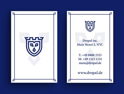 Business Card Dropal graphic  design minimal typography modern designer design creativity creative visiting card design business cards business card business card design