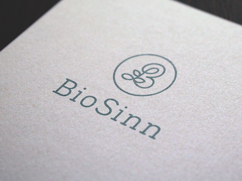 Logo Design Biosinn minimal typography modern designer design creativity creative logoinspiration logodesigner logo design logodesign logos logo