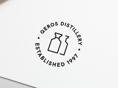 Logo Design Geros Distillery distillery minimal typography modern designer design creativity creative logoinspiration logo design logotype logos logo
