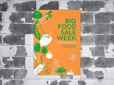 Poster Design Big Food Sale graphic  design minimal typography modern designer design creativity creative sale poster poster design food