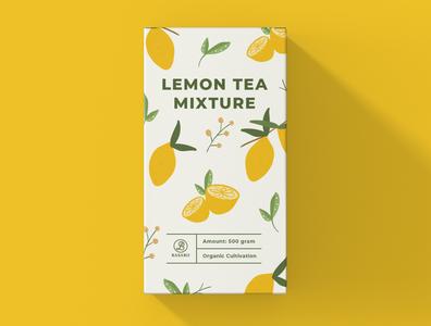 Package Design Lemon Tea minimal typography modern designer design creativity creative label label design packaging packaging design package design package lemon