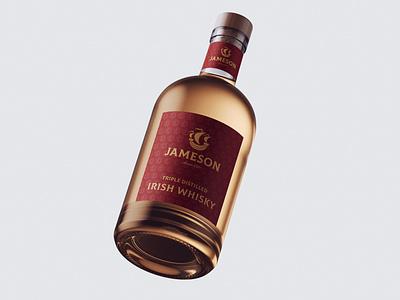 Bottle Design Jameson minimal typography modern designer design creativity creative label label design bottle label bottle bottle design jameson
