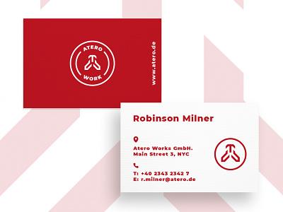 Business Card Atero graphic  design minimal typography modern designer design creativity creative visiting card calling card business cards business card business card design