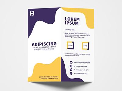 Brochure Design Yello Purple graphic  design minimal typography modern designer design creativity creative flyer flyer design brochure brochure design