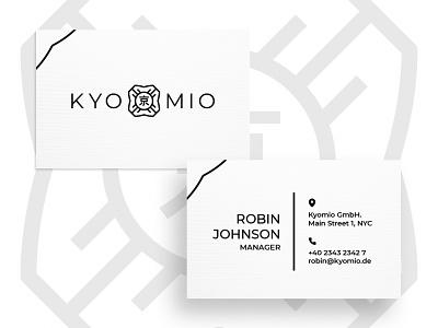 Business Card Kyomio graphic  design minimal typography modern designer design creativity creative visiting card businesscard business card design business cards business card