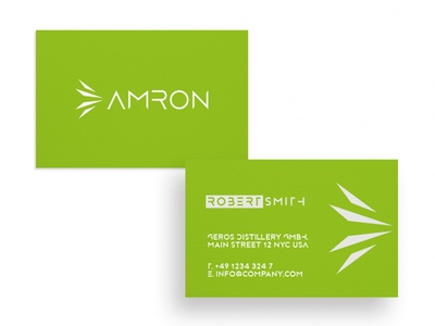Business Card Amron card design graphic  design typography modern designer design creativity creative visit card businesscard business card design business cards business card