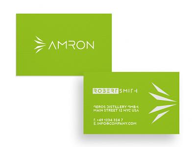 Business Card Amron card design graphic  design typography modern designer design creativity creative visit card businesscard business card design business cards business card