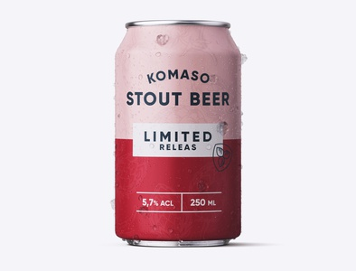 Beer Can Red Stout minimal typography modern designer design creativity creative brewery labeldesign label label design beer label beer can beer