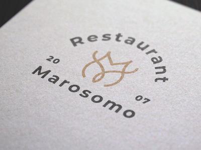 Logo Design Marosomo minimal typography modern designer design creativity creative logoinspiration logo design logodesign logotype logos logo