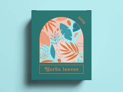 Package Design Herbs Leaves graphic  design typography modern designer design creativity creative label labeldesign label design packaging design package design packaging package