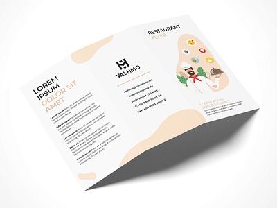Brochure Design Restaurant illustration typography modern designer design creativity creative flyer design flyer brochure trifold brochure brochure design restaurant