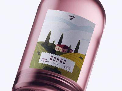 Bottle Design Bordo typography designer design creativity creative labels label design labeldesign label bottle design bottle label bottle winery wine label wine
