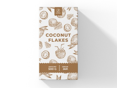 Package Design Coconut Flakes typography modern designer design creativity creative coconut label design labels label packaging design package design packaging package