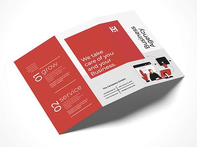 Brochure Design Business Agency Grow graphic  design typography modern designer design creativity creative flyer design flyers flyer trifold brochure brochure brochure design
