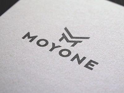 Logo Design Moyone minimal typography modern designer design creativity creative logoinspiration logodesigner logo design logodesign logotype logos logo
