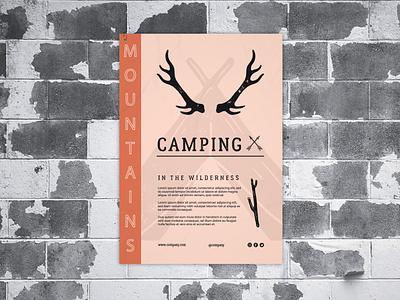 Poster Design Camping graphic  design minimal typography modern designer camping design creativity creative poster design poster art posters poster