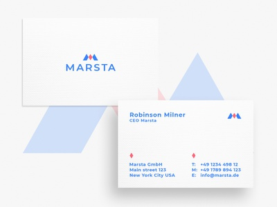 Business Card Marsta graphic  design typography minimal modern designer design creativity creative card design business card design business cards business card businesscard business