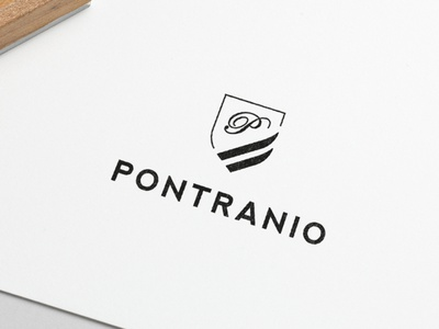 Logo Design Pontranio graphic  design minimal typography modern designer design creativity creative logo design logodesign logotype logos logo