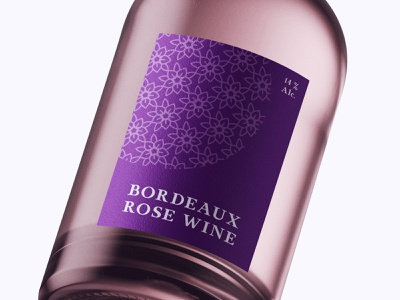 Bottle Design Bordeaux Rose Wine modern designer design creativity creative typography bottles bottle wine label label label design labels labeldesign wine