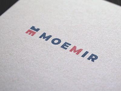 Logo Design Moemir graphic  design minimal typography modern designer design creativity creative logotype logos logo design logo