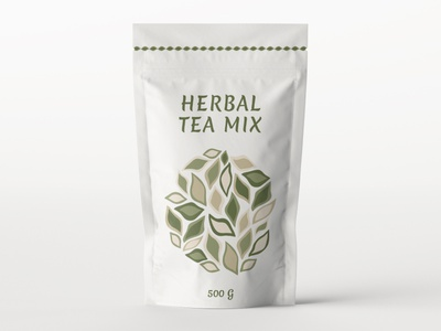 Package Design Herbal Tea Mix minimal typography modern designer design creativity creative label label design labeldesign packaging design package design packaging package