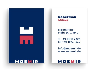 Business Card Moemir graphic artist graphic  design typography modern designer design creativity creative business card design business cards business card businesscard business
