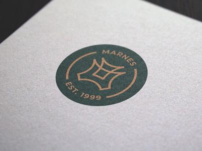 Logo Design Marnes graphic  design minimal typography modern designer design creativity creative logo design logotype logodesign logos logo
