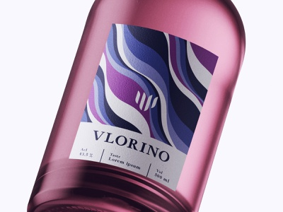 Bottle Design Vlorino typography designer design creativity creative label design labeldesign label bottle label bottle design bottle wine bottle wine label winery wine