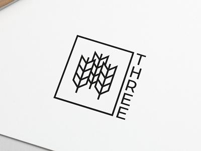 Logo Design Three graphic  design minimal typography modern designer design creativity creative logodesign logotype logos logo design logo
