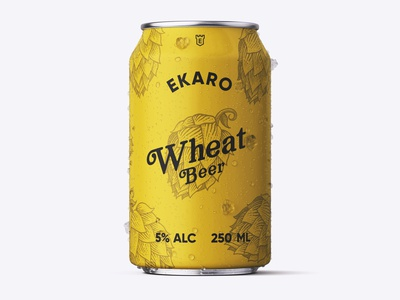 Beer Can Wheat Beer graphic  design typography modern designer design creativity creative labeldesign label design label brewery beer label beer can beer