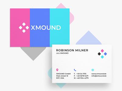 Business Card XMOUND graphic  design minimal typography modern designer design creativity creative business card design business cards business card businesscard