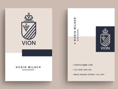 Winegrower Vion business card design business card illustration branding design brand vector typography modern minimal logoinspiration logodesigner logo design logo graphic  design graphic artist designer design creativity creative branding
